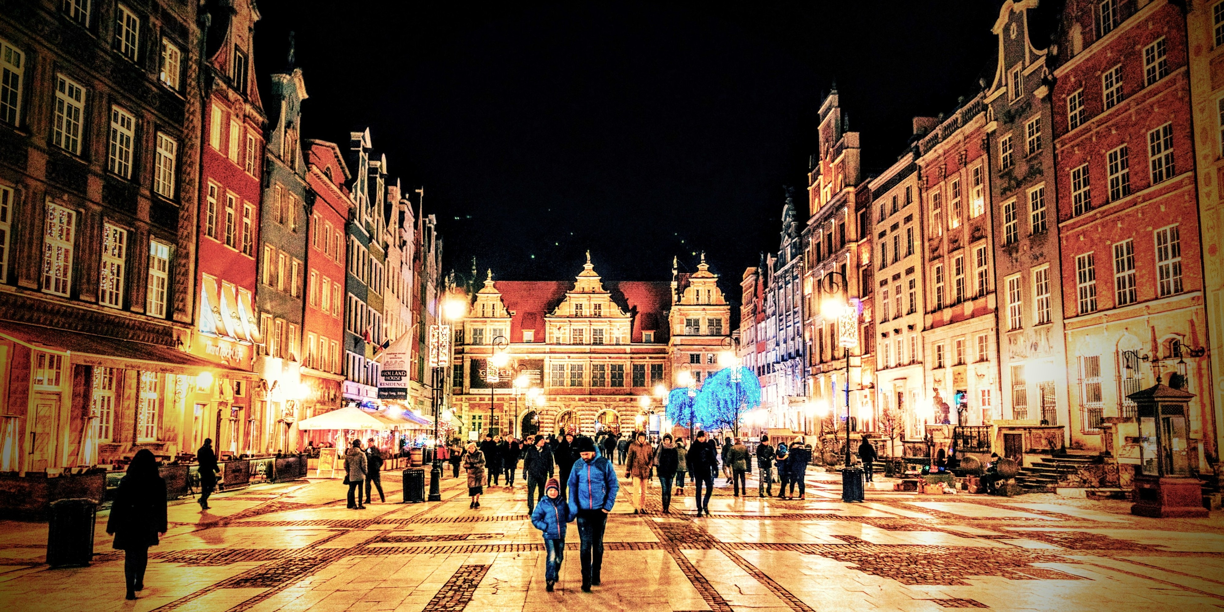 The Gdansk Green Gate at New Year's Eve