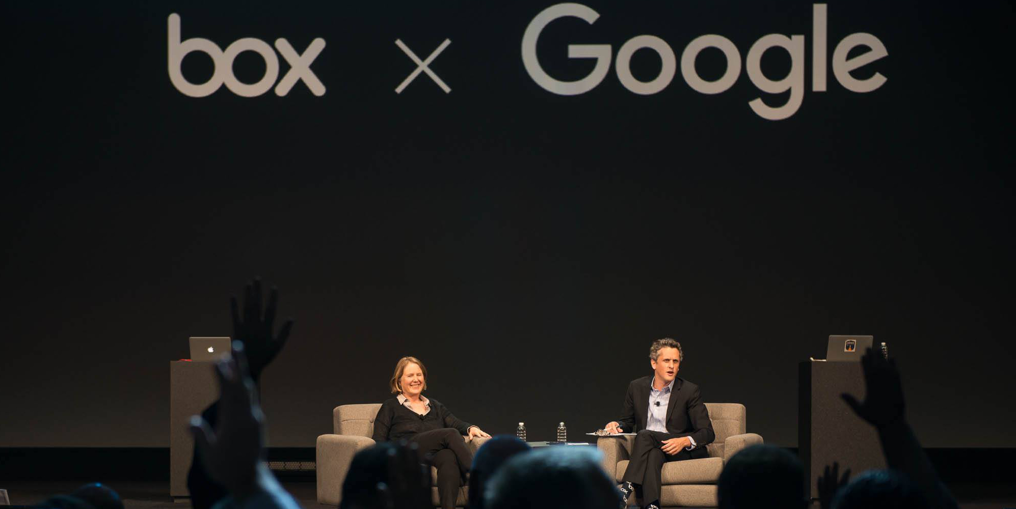 BoxWorks_Diane-Green-Google_Aaron-Levie-Box