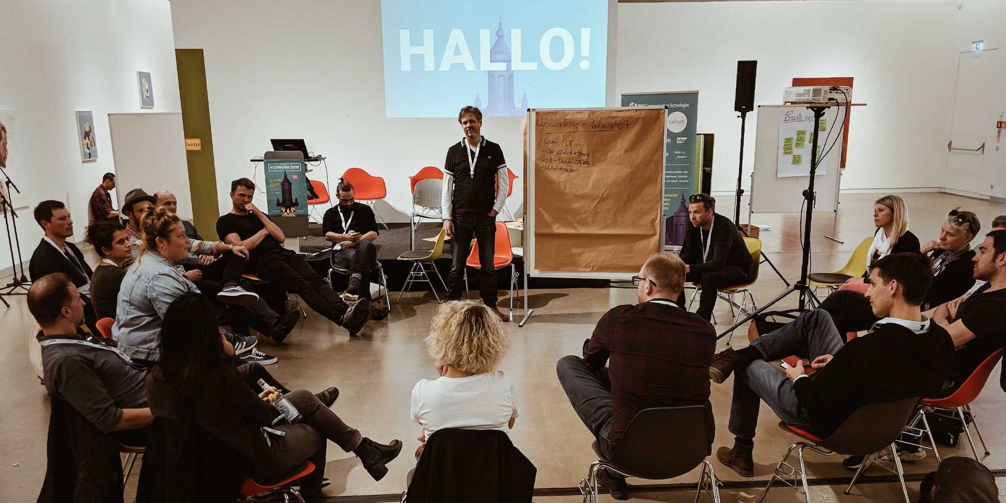 BarCamp session at the COWORK 2019 in Mannheim (Image: Tobias Kremkau)